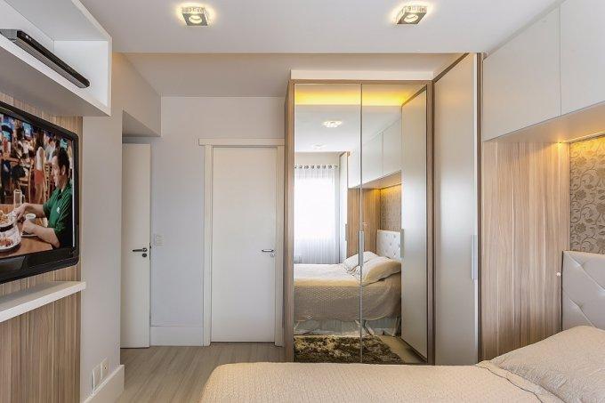 Apê de 66 m² compacto, charmoso e vestido para arrasar quarto