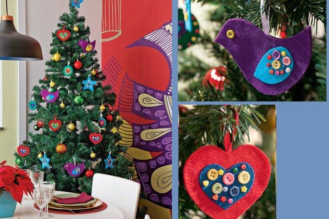 Aprenda a fazer enfeites de feltro para decorar a árvore de Natal capa