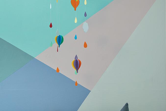 aprenda a fazer um móbile de balão e nuvem