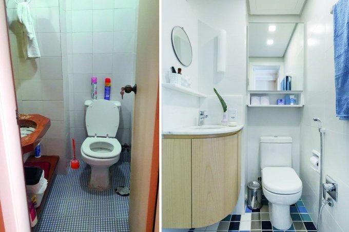 banheiro parece maior apos reforma