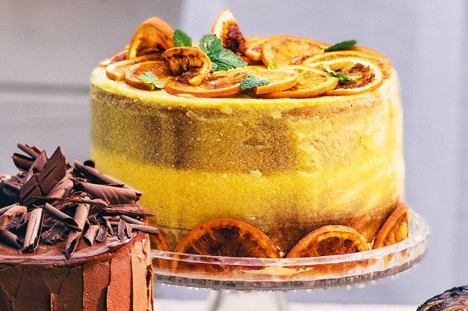 bolo de laranja cremoso