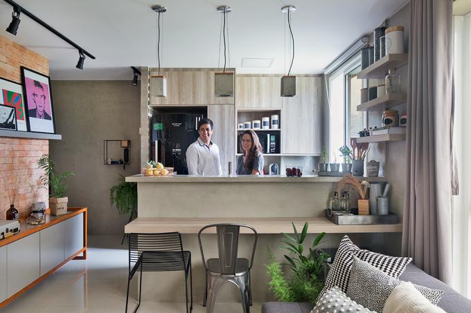 Decoração-para-apartamento-pequeno-com-planta-estreita-cozinha