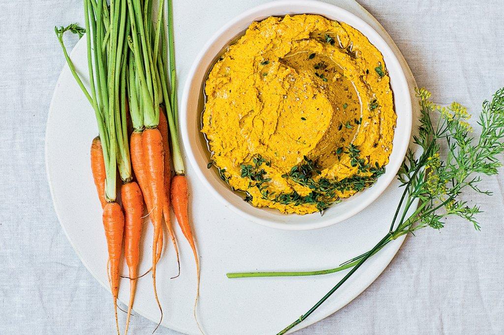 homus de cenoura
