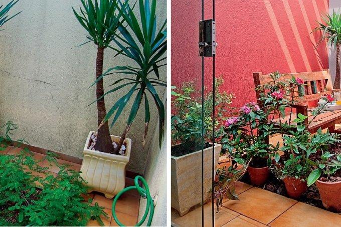 jardim renovado em apenas 3 dias antes e depois