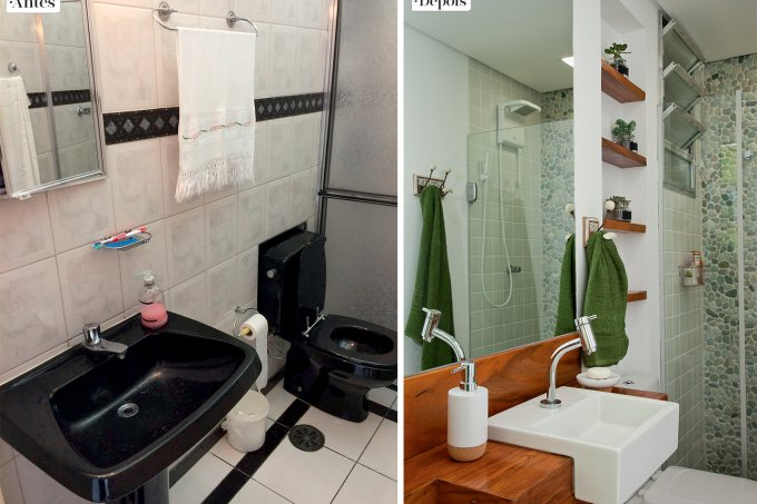 Reforma deixa banheiro com jeitinho de spa capa