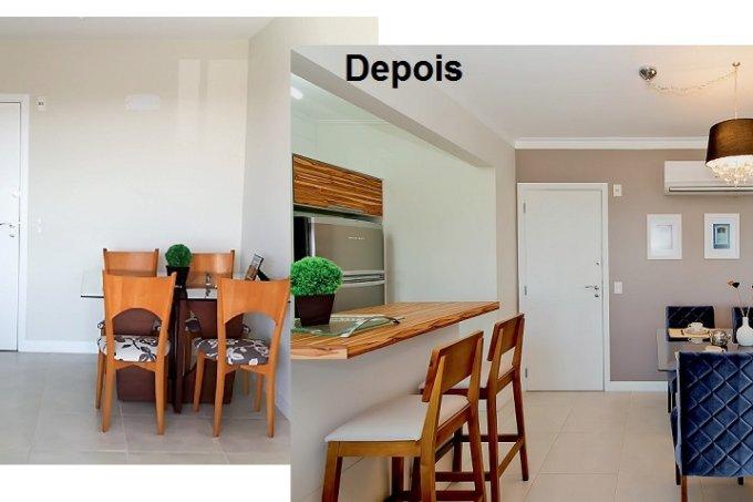 sala de jantar fica sofisticada com recursos simples