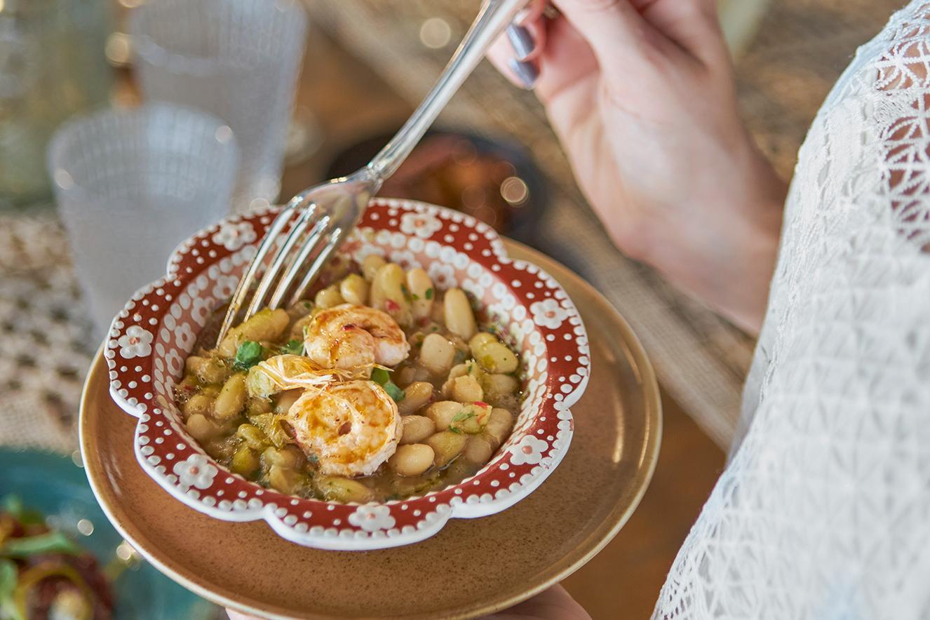 Saladinha de feijão-branco
