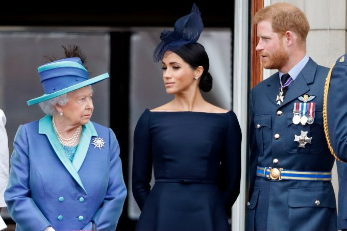 Rainha, Meghan e Harry