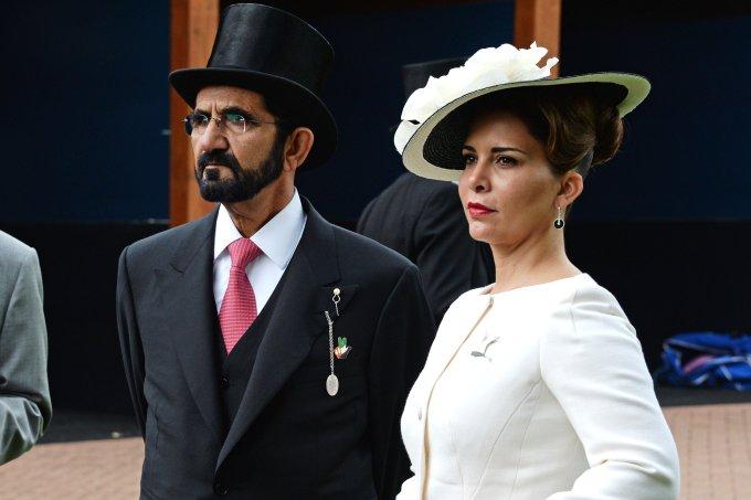 Emir de Dubai e princesa Haya