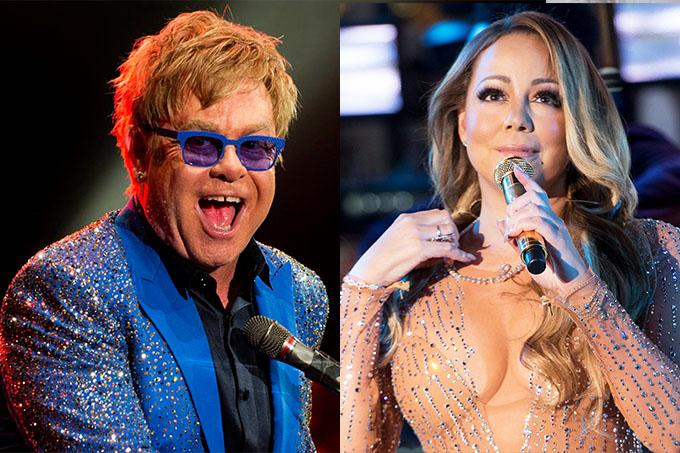 Elton John e Mariah Carey comandam festival online