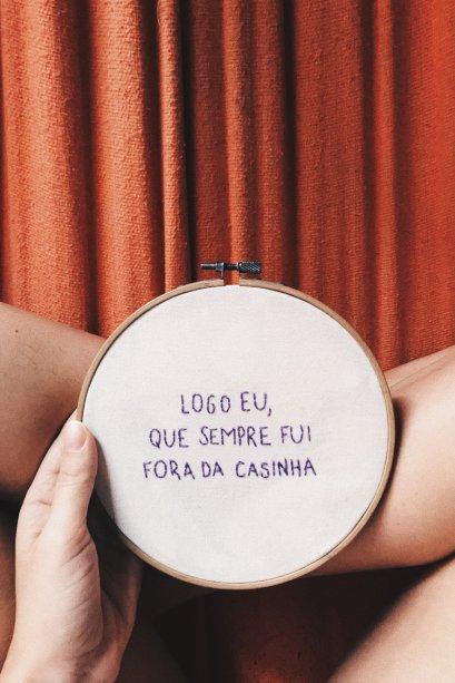 Aqui, os bordados de Taynara, compartilhados na #bordarpranãopirar.