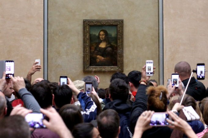 Mona Lisa no Louvre