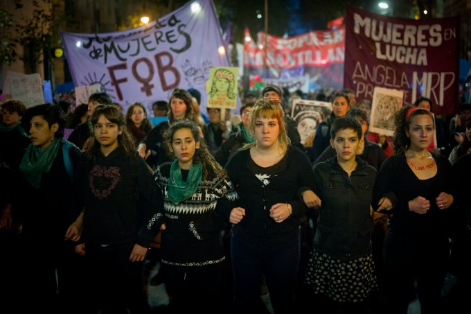 Women Take Part of the 'Ni Una Menos' Protest in Buenos Aires