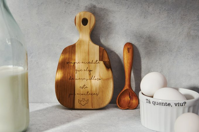 Decoração com utensílios de cozinha