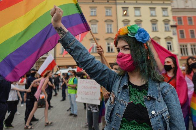 Protestos pró-LGBT na Polônia