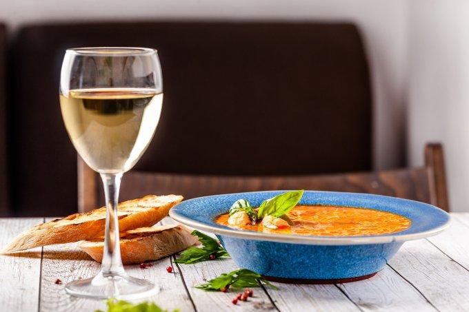 harmonização de sopa  e vinho