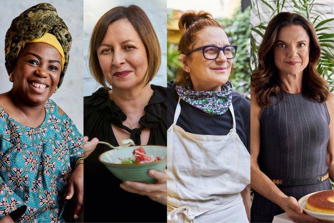 Receber – As chefs Melanito Biyouha, Carla Pernambuco, Mara Salles e Estela Passoni