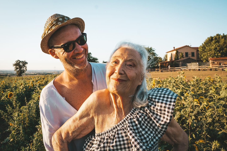 Licia Fertz e o neto Emanuele