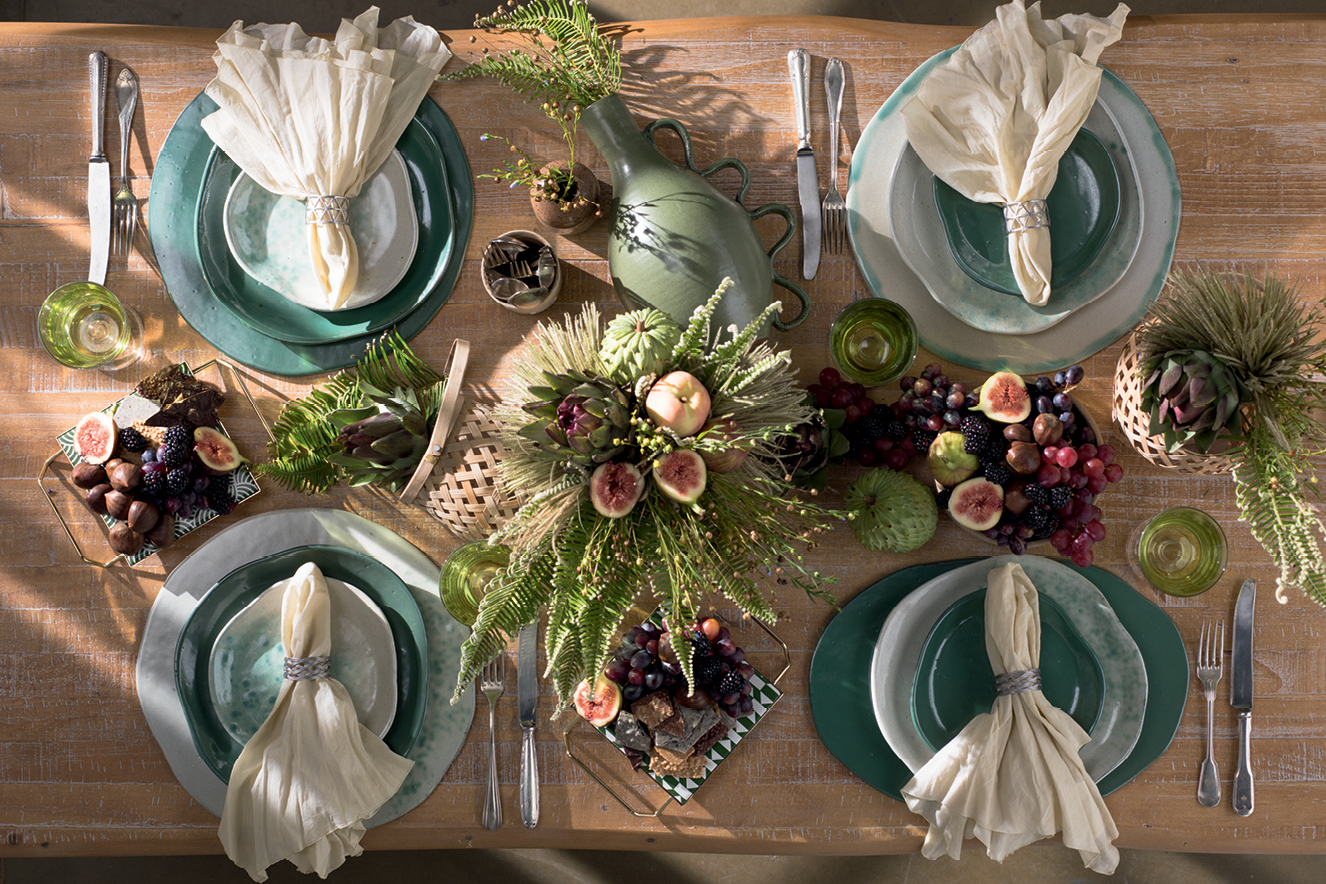 Decoração mesa para o final do ano