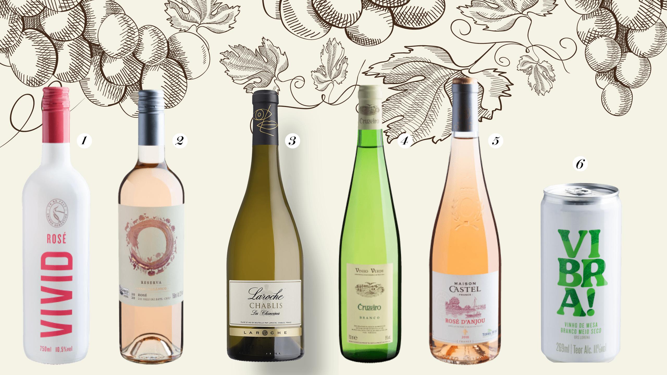 Vitrine vinhos brancos