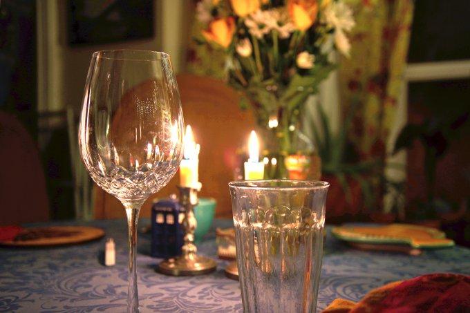 flores mesa decoração