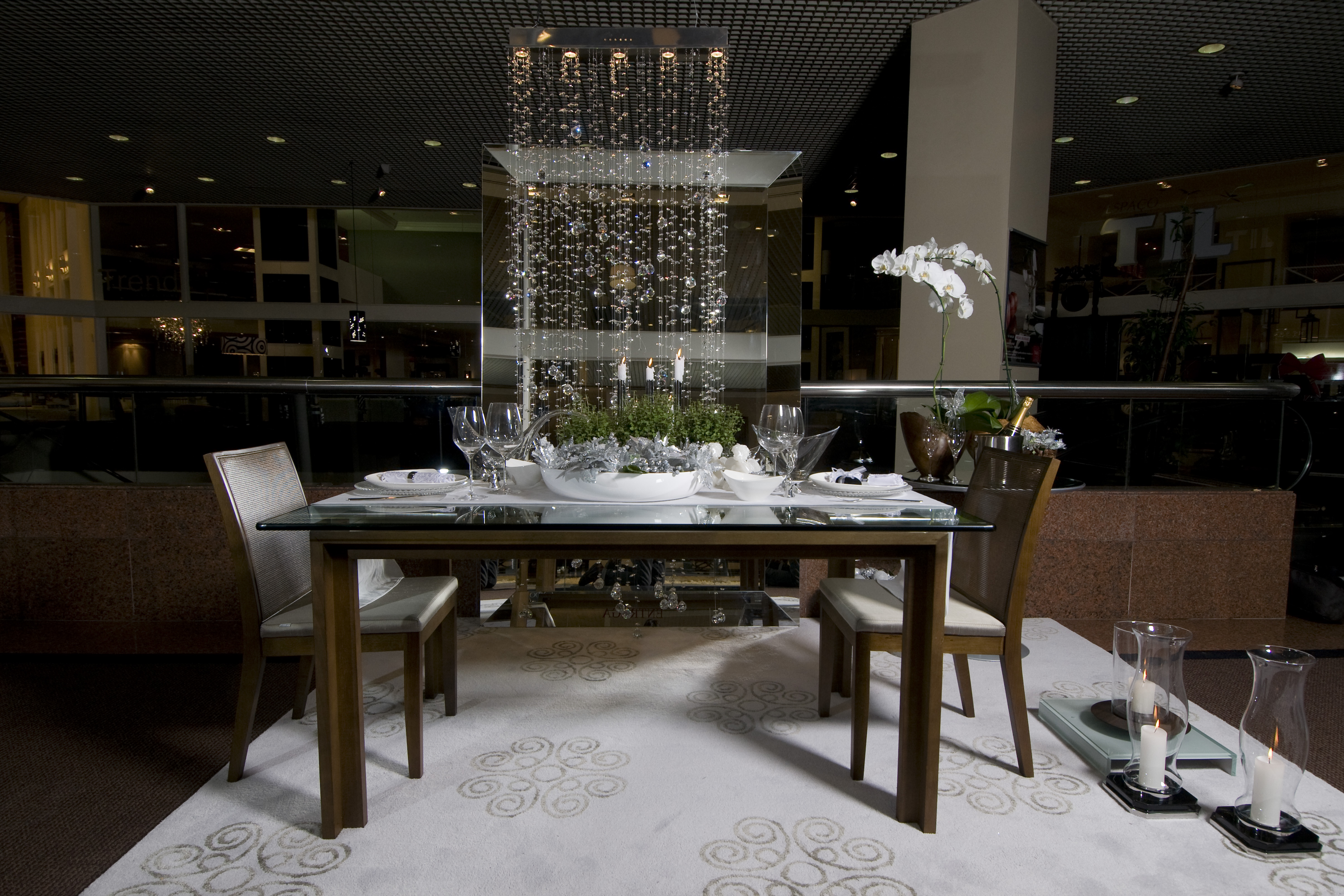 Mesa decorada por Christiane Schiavoni