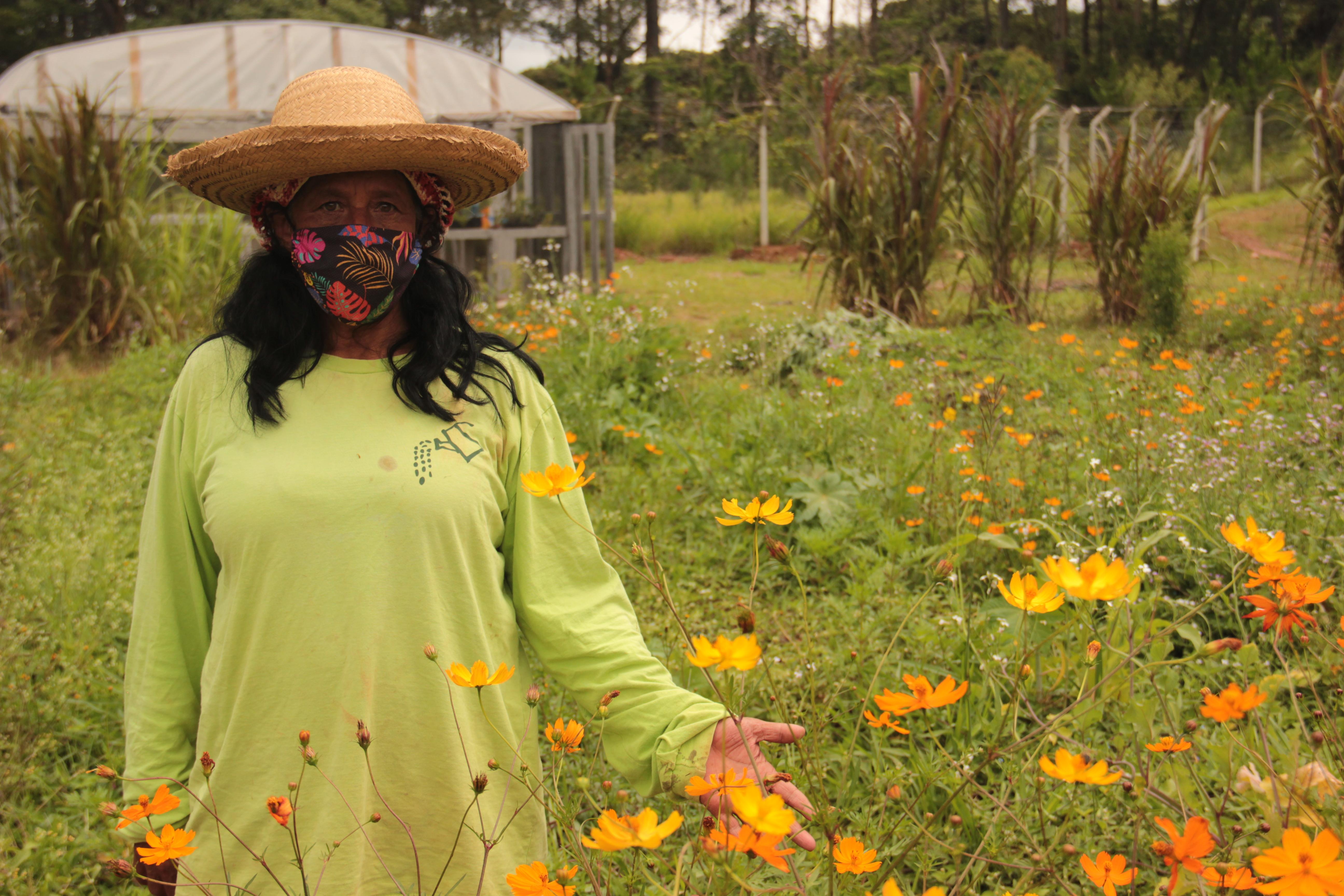 Paula Soares de Passos, de 61 anos, é uma das alunas da 11ª turma da Horta Social Urbana