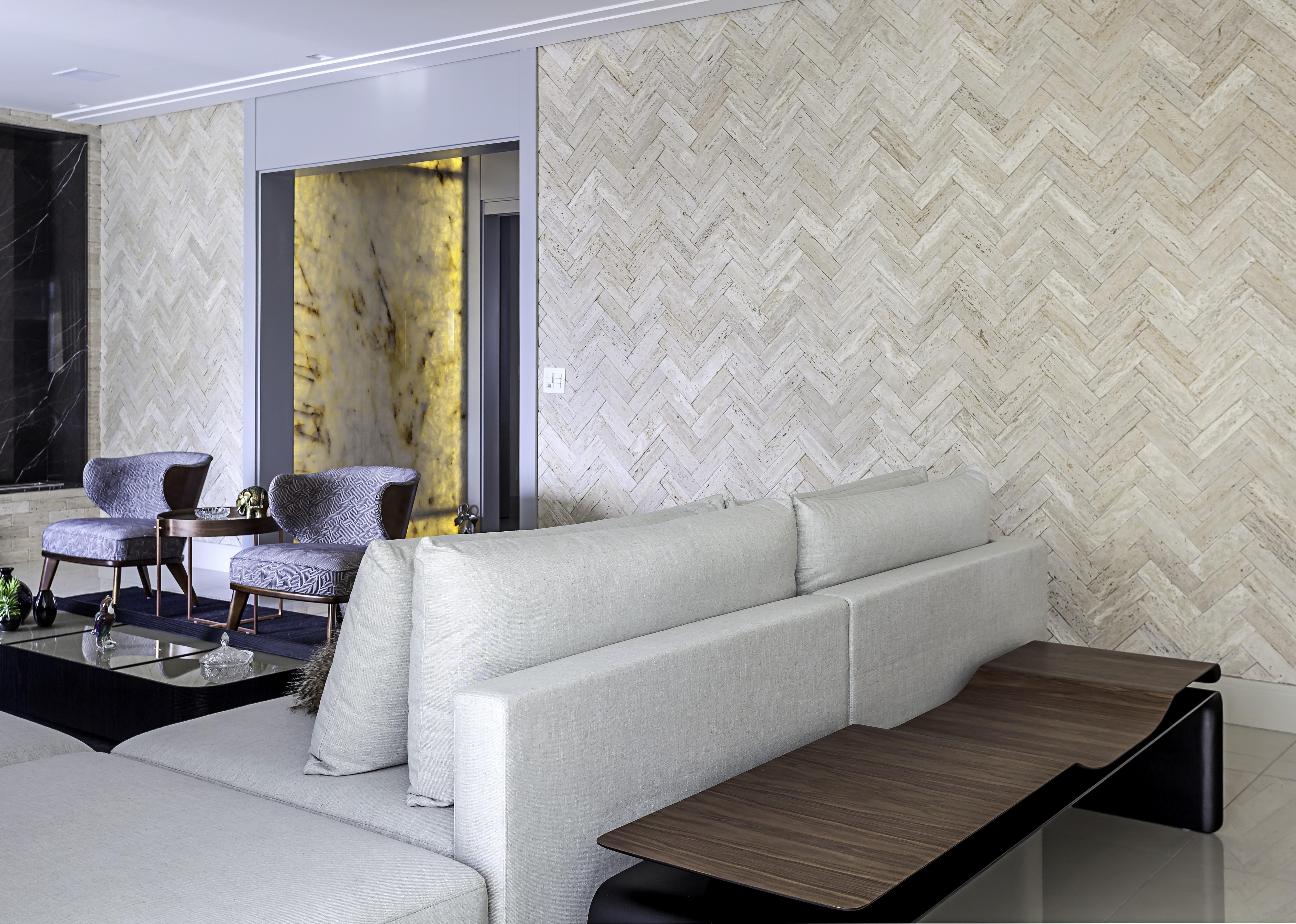 parede de tijolinho com revestimento cerâmica