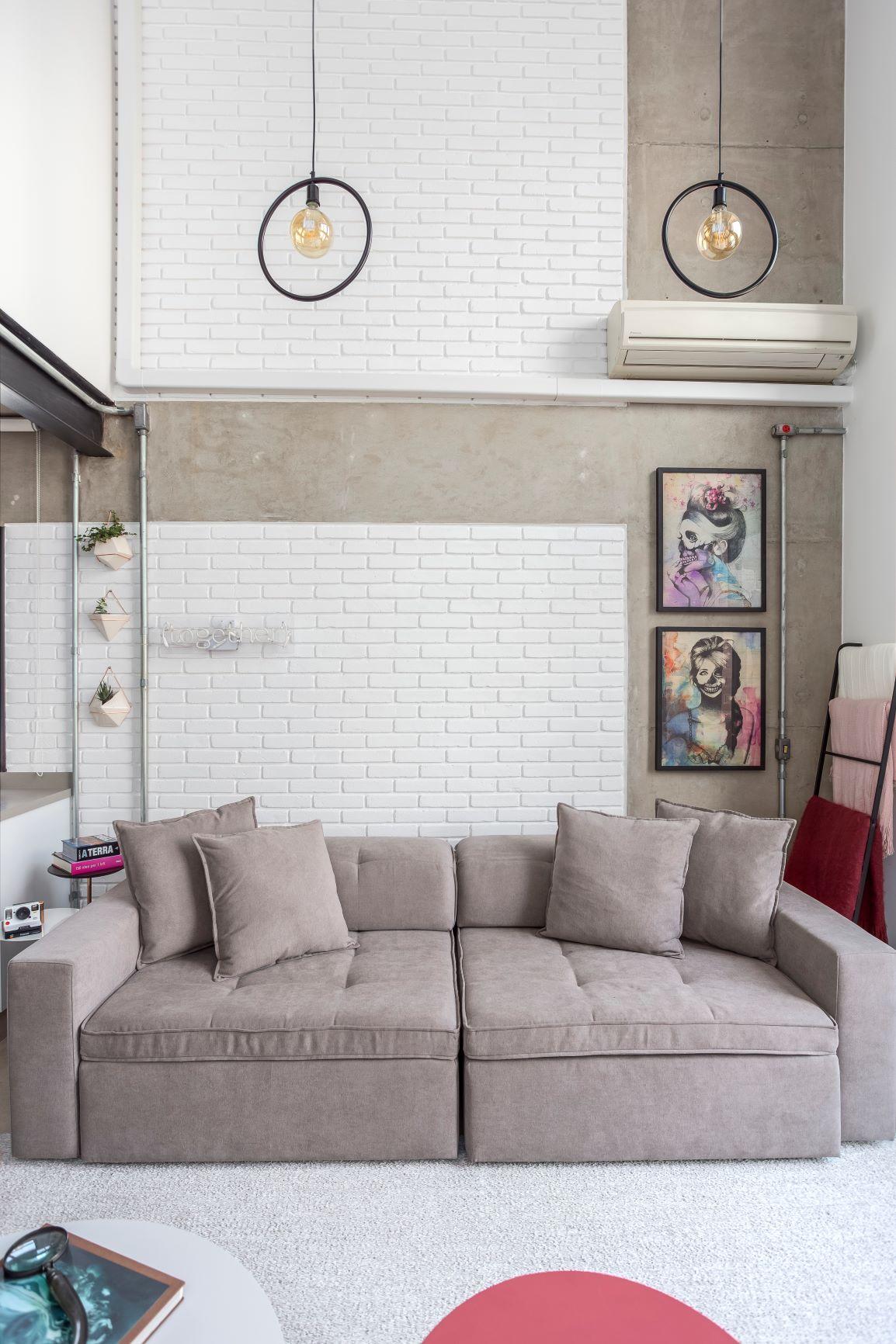 parede branca de tijolinho