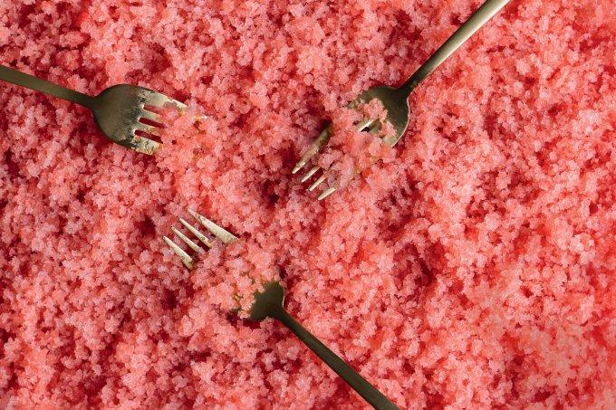 Granita de melancia – Receber Bruna Branco