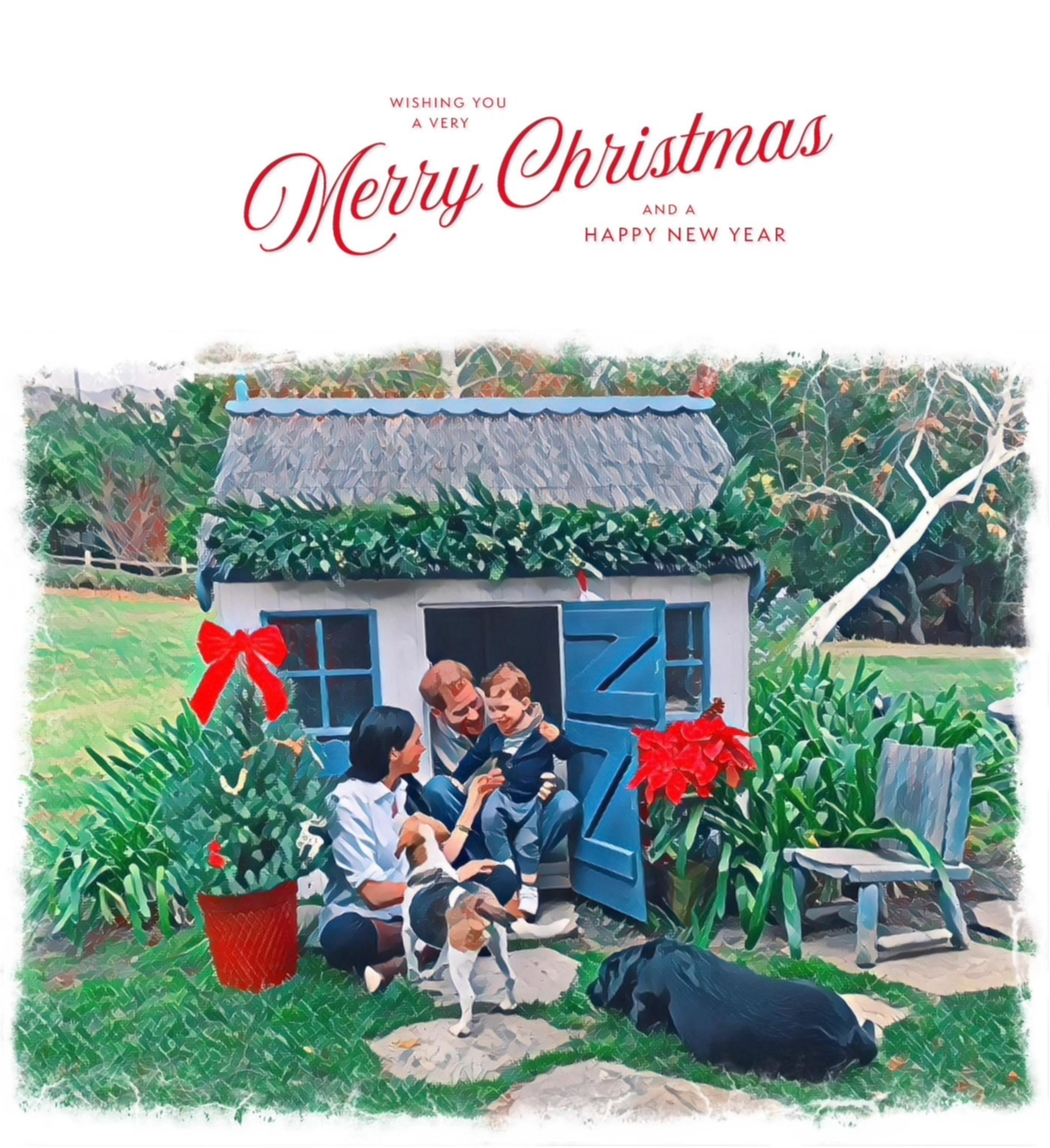 Cartão de Natal de Harry, Meghan e Archie