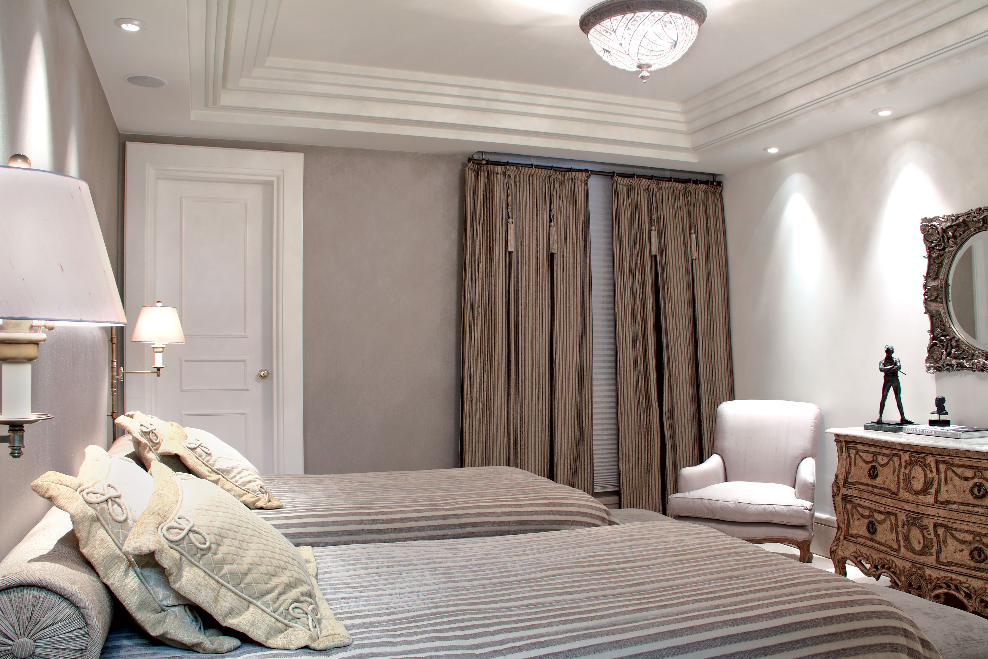 cortina cinza