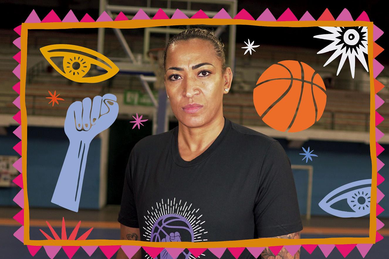 Érika Souza é atleta da seleção brasileira feminina de basquete