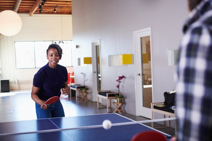 lazer trabalho ping pong