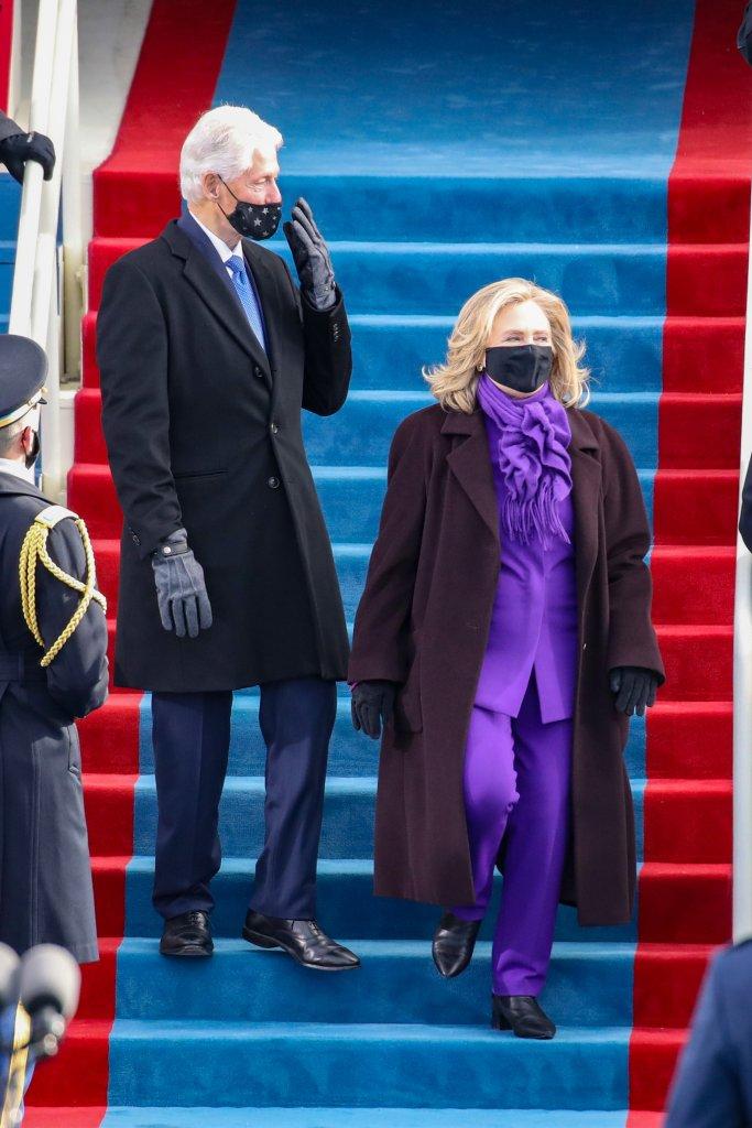 Bill e Hillary Clinton na posse de Joe Biden