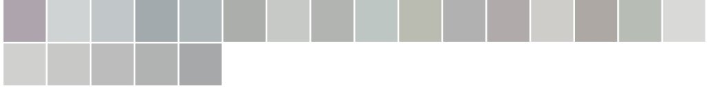 Paleta de cores: cinza