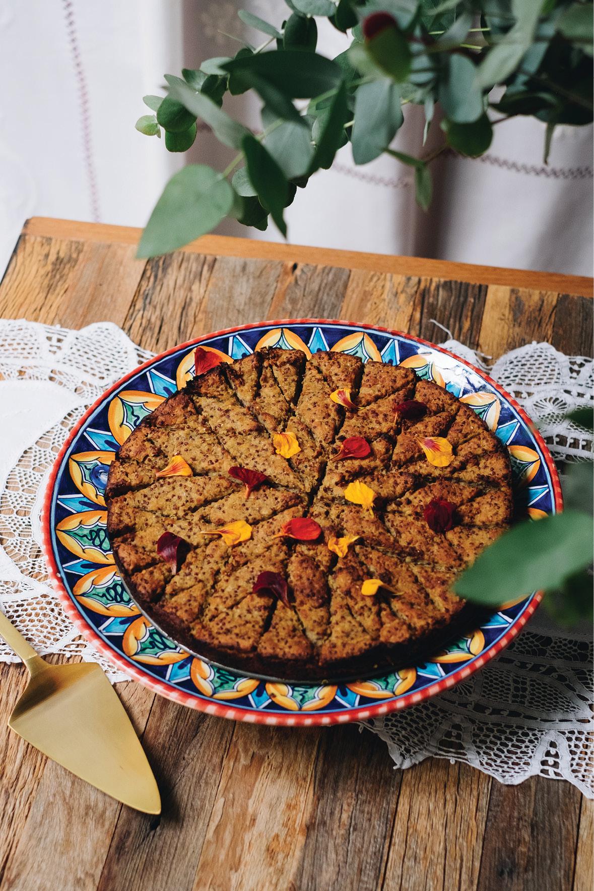 Quibe de lentilha rosa e quinoa vermelha