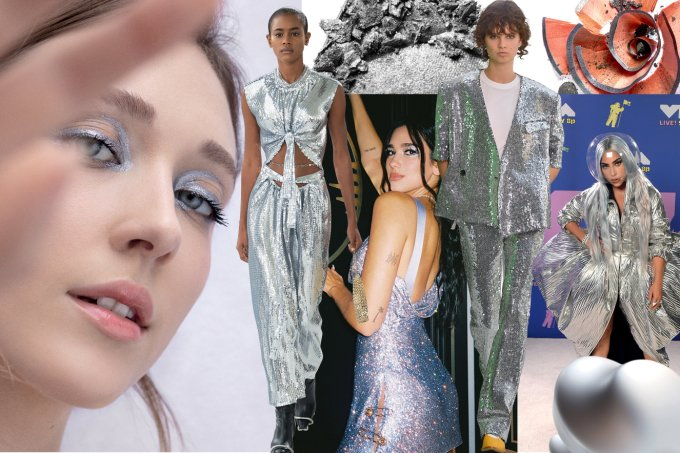 Vitrine moda – Looks prateados