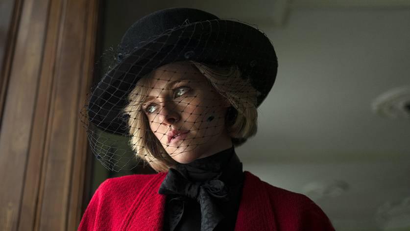 Kristen Stewart caracterizada como princesa Diana