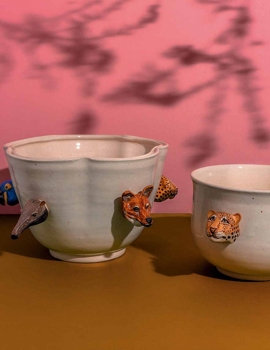 Vasos da coleção Pantanal, de Marô Antunes (@maroantunes)