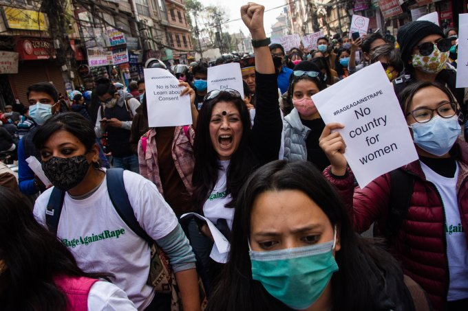 March Against Increasing Rape Cases Against Women In Nepal