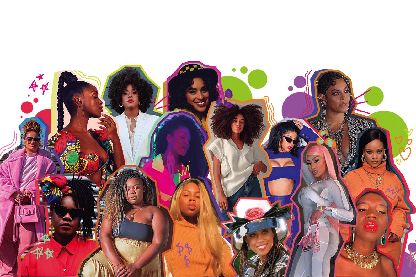 Beyoncé, Rihanna, Hilary Banks e Dionne Davenport, Getty Images; as demais, reprodução/Instagram