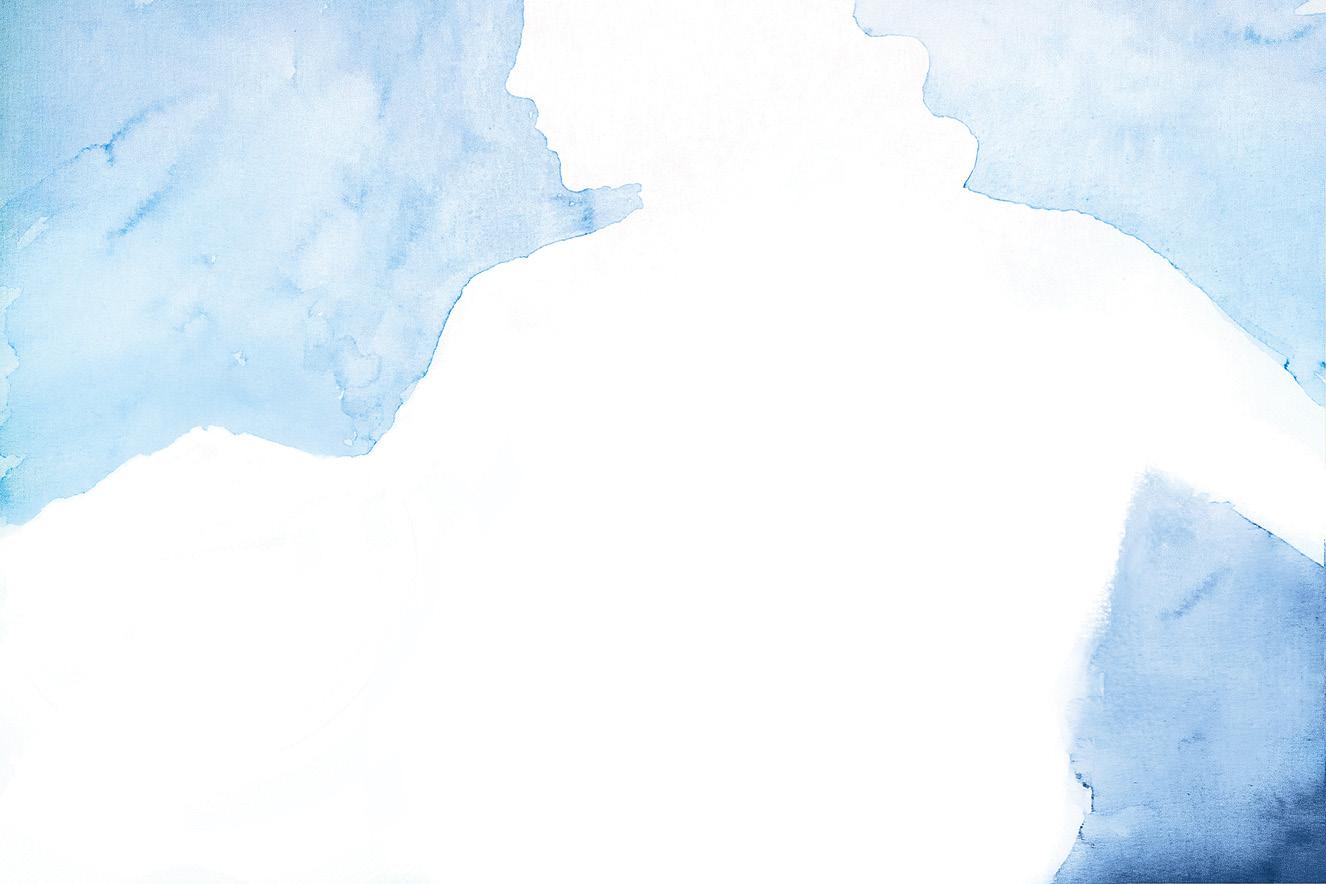 Aquarela com contornos de mulher grávida
