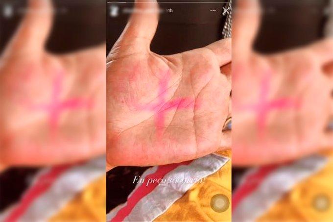 vítima de violência doméstica campanha x vermelho