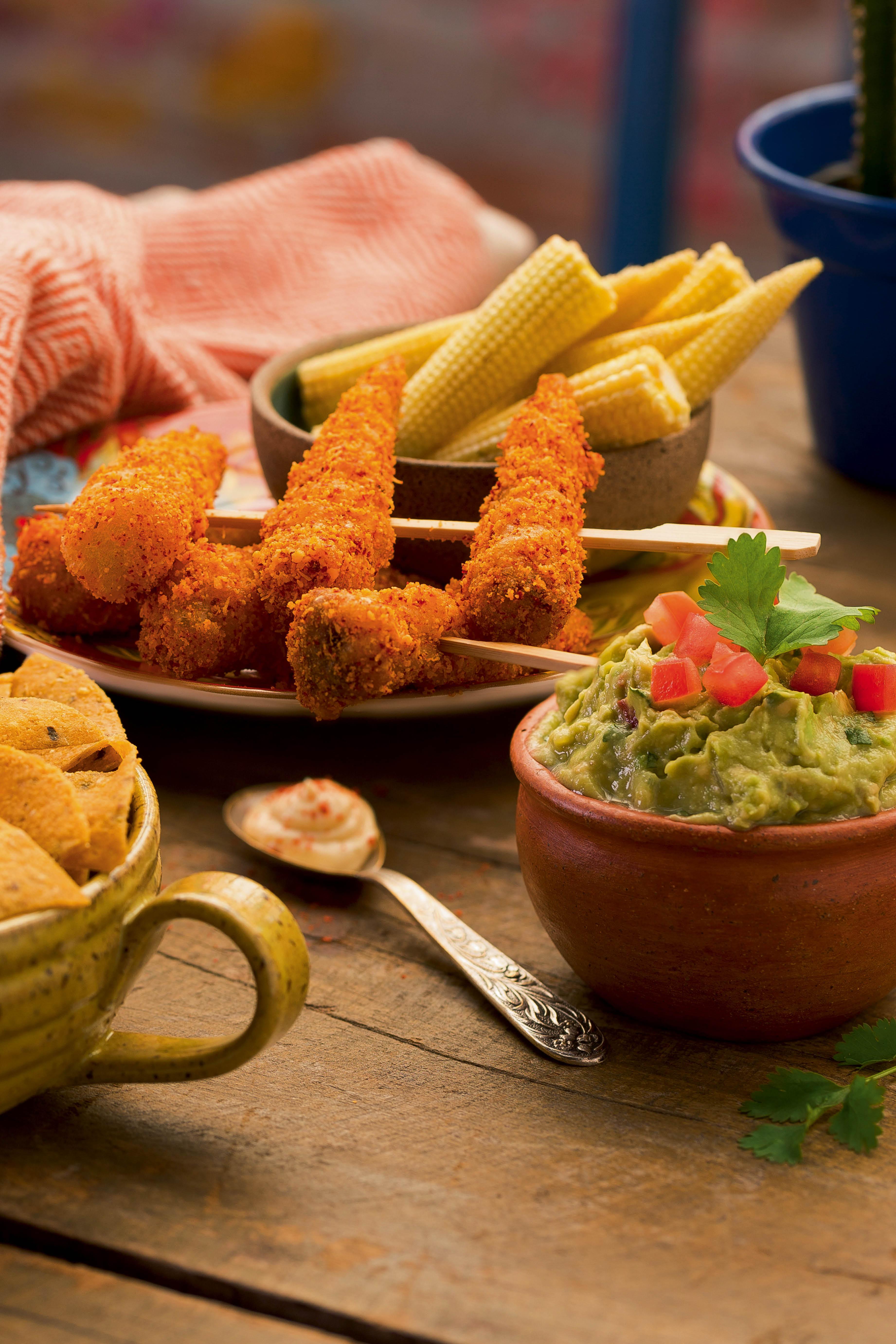 Elotitos callejeros e guacamole, receitas do Lupe, Bar y Taqueria