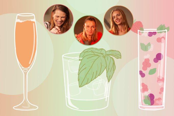Aprenda a fazer drinques práticos em casa com as bartenders Karina Ioshy, Chris Machado e Andressa Schütt