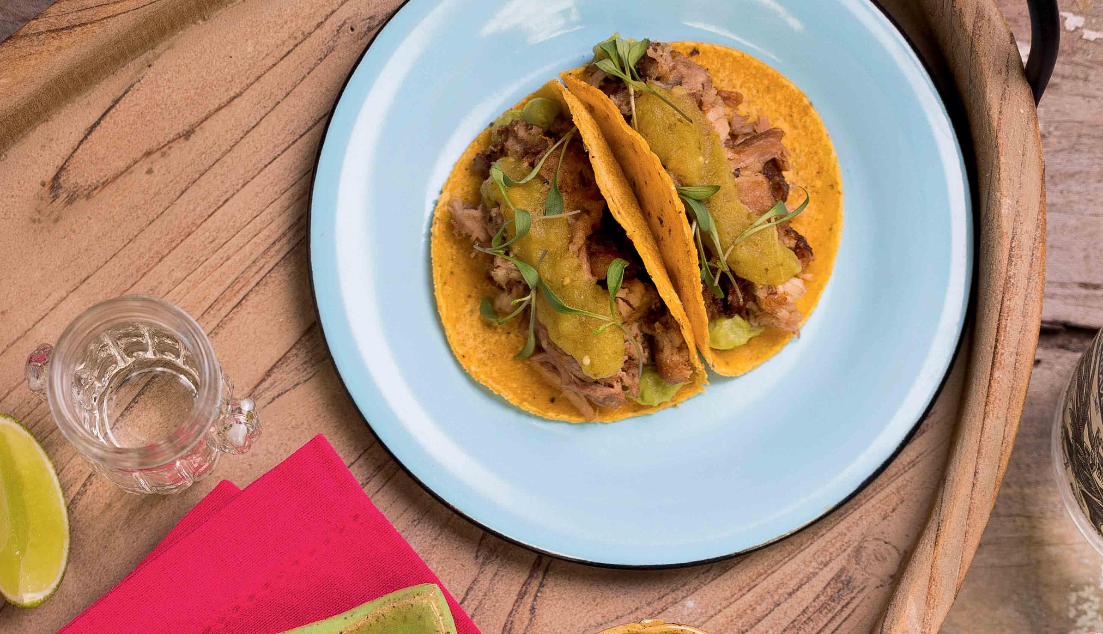 Tacos de carnitas, do Lupe, Bar y Taqueria