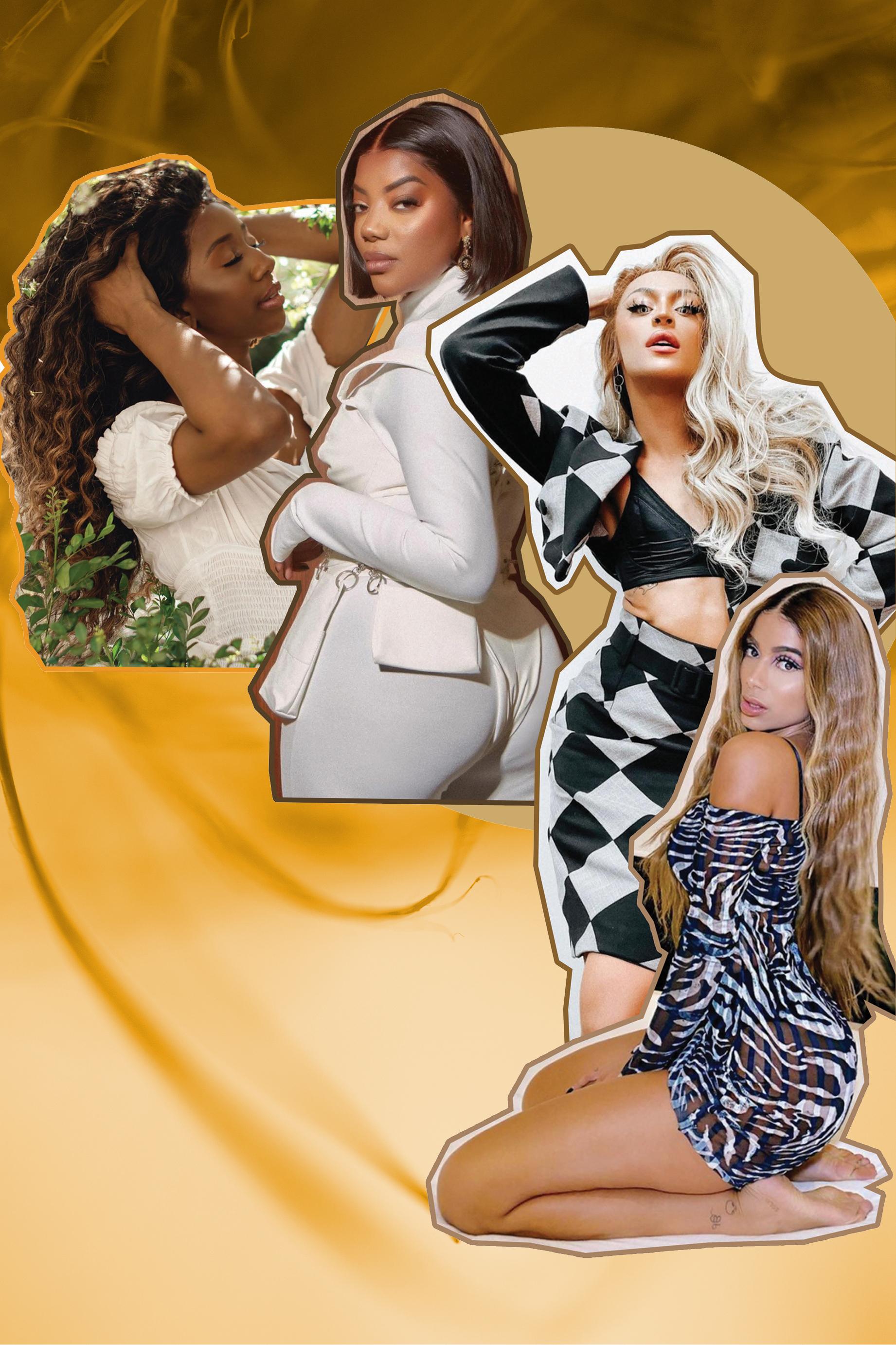 Mulheres famosas com perucas laces