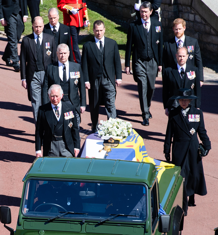 Harry e William funeral de Philip