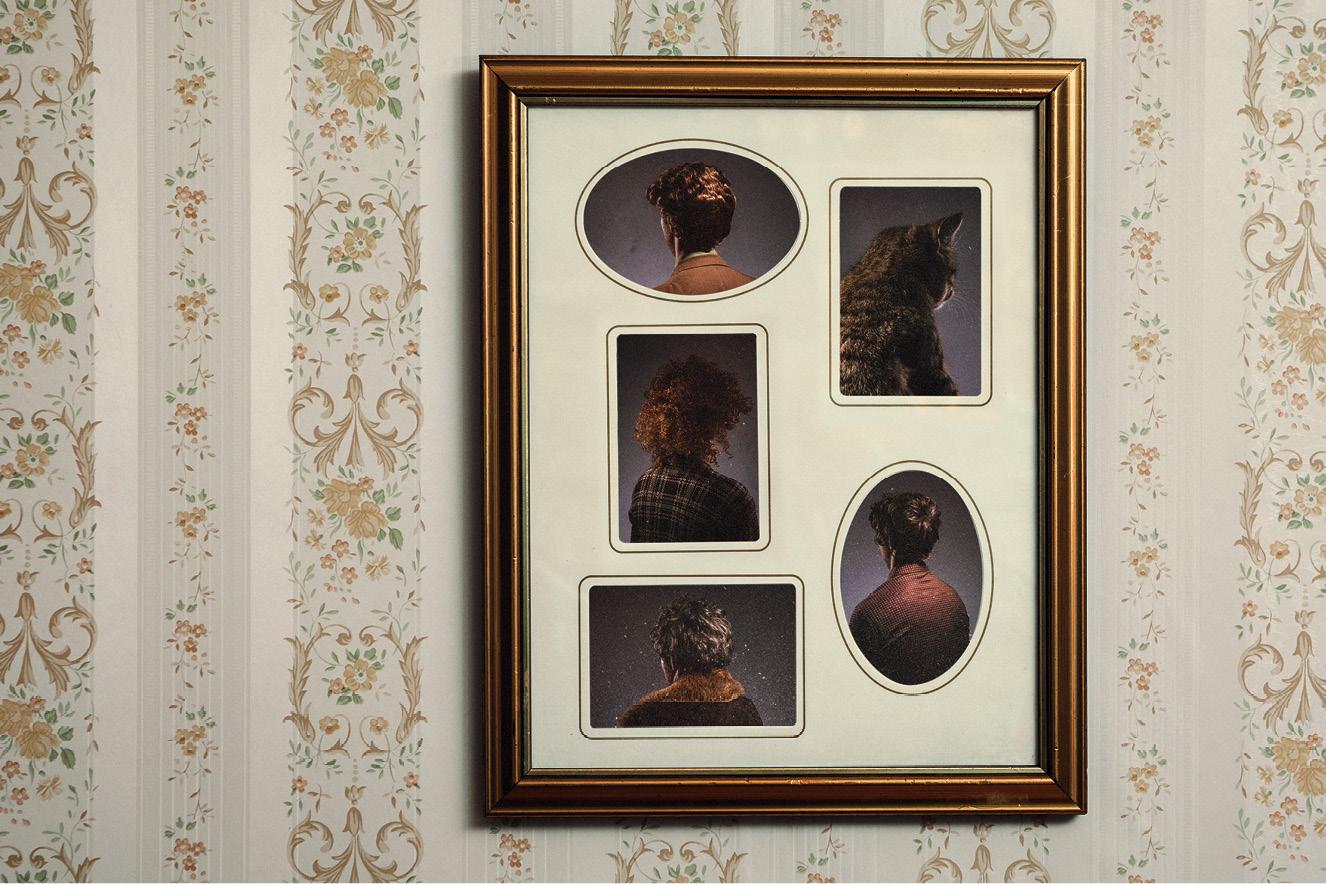 quadro com retratos de pessoas de costas